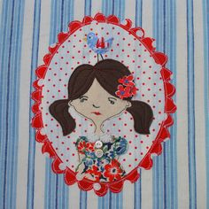 Leah Halliday  - Bird Girl www.leahhalliday.co.uk Creative Textiles, Machine Embroidery, Minnie Mouse, Disney Characters, Fictional Characters, Kids Rugs, Bird, Fabric, Crafts