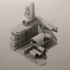 "360 Likes, 6 Comments - Ferda Kolatan (@ferdak) on Instagram: ""Real Fictions Cairo II. Midterms. #kolatanstudio #architecture #strangeobject #penndesign…"""