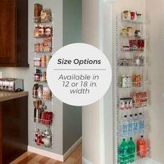 ClosetMaid 8 Tier Cabinet Door Organizer & Reviews | Wayfair Closet Organization, Kitchen Organization, Kitchen Storage, Organizing, Pantry Storage, Closet Storage, Kitchen Pantry, Bathroom Storage, Organization Ideas
