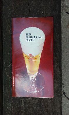 Budweiser Beer Salesman Book Serving Brochure Data Slide & Notebook 1960's-70's