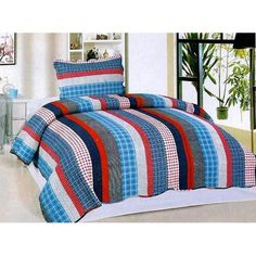 Home Sensation Stripe 2 Piece Twin Reversible Quilt Set Striped Quilt, Luxury Duvet Covers, Ruffle Bedding, Twin Quilt, Quilted Wall Hangings, Bath, Quilt Sets, Decorative Pillow Covers, Comforter Sets