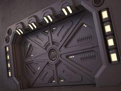 3d model sci fi door 02