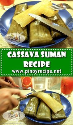 """Cassava Suman Recipe // Cassava Suman Recipe, another Filipino native """"kakanin"""" that is good for snacks. It consists of grated coconut and grated Kamoteng Kahoy (cassava) wrapped in banana leaves. It is sweet, chewy and very delicious. #ThePhilippines #filipino #recipe"""