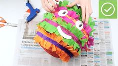 How to Make a Piñata. Having a piñata at your party is a great way to provide decoration and entertainment all in one. There's no need to go out and buy a pinata for your next party, though. With these simple steps you can build your own, a. Lego Ninjago, Cool Science Experiments, Halloween Crafts For Kids, Build Your Own, Origami, Diy And Crafts, Entertaining, Birthday, Party