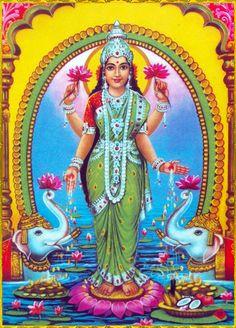 When Vishnu descended on the Earth as the avatars Rama and Krishna, Lakshmi descended as his respective consort as Sita and Radha ,Rukmini Lakshmi Images, Krishna Images, Lord Vishnu Wallpapers, Tanjore Painting, Divine Mother, India Art, Lord Ganesha, Lord Krishna, Goddess Lakshmi
