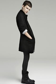 the boots with the tights. obsessed with all things black.