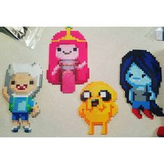 Adventure Time characters perler beads by vape_gypsy