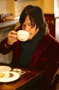 The Walking Dead star Norman Reedus captured by the lens of Arnaldo Anaya-Lucca and styled by Jacky Tam, for the January 2014 issue of GQ Japan.