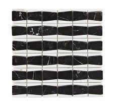 NM Chevron Black & White Mosaic