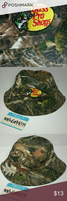 cc191623fc777 Bass Pro Shops Kids Tree Camo Bucket Hat (nwot) Brand New (NWOT)