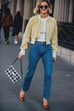 Paris Fashion Week Street Style: Vintage Jeans