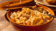 Looking for a seafood dinner? Then check out this cheesy shrimp pasta bake made with Gold Medal® all-purpose flour - ready in an hour.