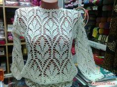 Delicadezas en crochet Gabriela: Ganchillo a cielo abierto de la blusa.