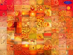 Print and place on frame. Change with the seasons. Great for fall! Orange, orange, orange #kleurinspiratie