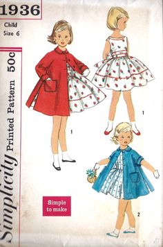 1950s Girls Party Dress and Coat