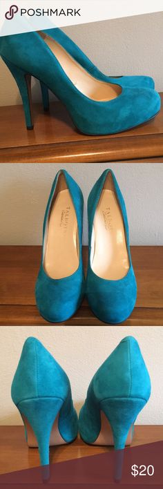 Talbots shoes Beautiful summer color. Not sure what the color is called but it's a blue/green combination. Soft leather upper. Talbots Shoes Heels