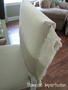 Using painter's canvas drop cloth for upholstery