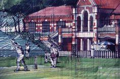 fine liner copic markers on A1 cartridge. Offices Pretoria Old Boys Lynnwood Pretoria. circa 1997