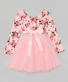 Designer Kidz Light Pink Floral Tutu Dress - Toddler & Girls by Designer Kidz Toddler Girl Dresses, Little Girl Dresses, Girls Dresses, Toddler Girls, Baby Outfits, Kids Outfits, Frock Design, Baby Frocks Designs, Baby Dress Patterns