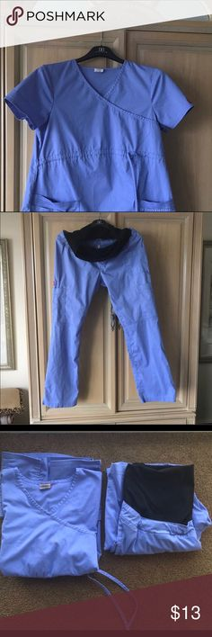 Dickies Maternity Scurbs Full panel maternity scrubs with flair leg with slit at ankle. 2 pockets. Great condition. Smoke free/ pet free home. Dickies Other