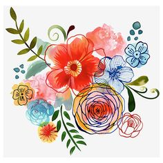 Margaret Berg Art : Illustration : florals / spring ❤ liked on Polyvore featuring home, home decor, wall art, floral illustration, spring home decor, floral wall art, floral home decor and spring wall art