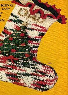 Free Crochet Christmas Tree Stocking Pattern