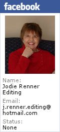 My wonderful book editor Jodie. Now author of her own book on editing.
