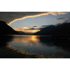 Amazing sunset on Lake Brienz.