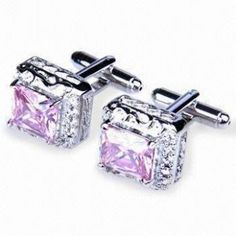 Fashionable Copper Cuff Links with Crystal