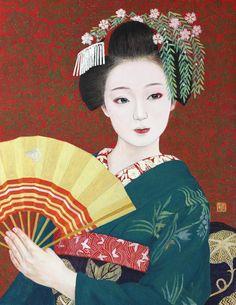 Japanese Painting, Chinese Painting, Chinese Art, Japanese Drawings, Japanese Prints, Japanese Illustration, Illustration Art, Botanical Illustration, Illustrations