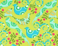 Michael Miller Pretty Bird Fabric FQ UK seller by TheSewingHutch