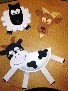 farm animals another cute craft for party activity!