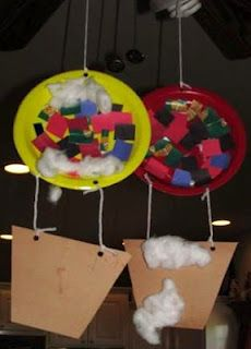 Hot Air Balloon craft for Wizard of Oz theme Daycare Crafts, Classroom Crafts, Toddler Crafts, Crafts For Kids, Arts And Crafts, Transportation Theme Preschool, Balloon Crafts, Paper Plate Crafts, Paper Plates
