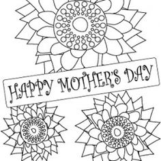 Free Printable Coloring Page For Kids To Make Cards Or Give As Gifts Pages KidsMothers Day