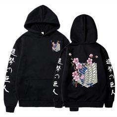 Atac pe titan japonez anime hoodie japonez - Negru / XL