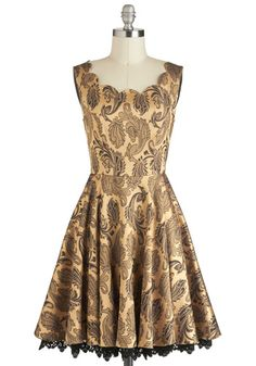 Twirl of the Moment Dress, #ModCloth  Need more swanky holiday parties so I have excuses to buy stuff like this...