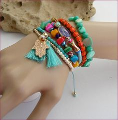 boho charms tassel woman bracelet Bracelet-Manchette Bracelets, Tassel Necklace, Tassels, Charms, Boho, Woman, Jewelry, Fashion, Arm Warmers