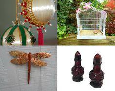 Dear Santa,... features our vintage beaded satin ornaments!