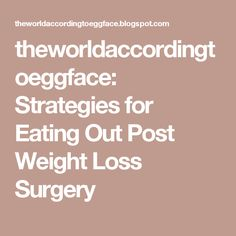 theworldaccordingtoeggface: Strategies for Eating Out Post Weight Loss Surgery