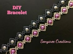 Simple beaded bracelet - YouTube