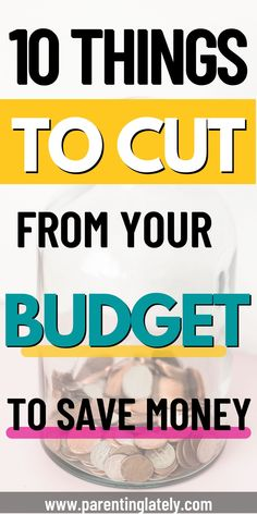 Are you trying to save money? Here are 10 things that you can cut out of your budget right now to save money. #savemoney #budget