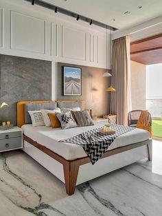 Ceiling Design Living Room, Bedroom False Ceiling Design, False Ceiling Living Room, Bedroom Bed Design, Bedroom Furniture Design, Modern Bedroom Furniture, Modern Master Bedroom, Modern Bedroom Design, Modern Room