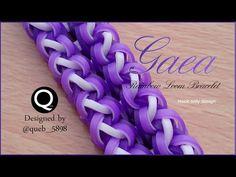 Gaea Rainbow Loom Bracelet - hook only - YouTube