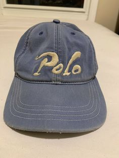 742b309cf34 Vintage Polo Ralph Lauren Hat Spell Out Script Leather Strap Cap  fashion   clothing