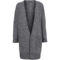 TOPSHOP Stretchy Slouch Cardigan (32 CAD) ❤ liked on Polyvore featuring tops, cardigans, outerwear, jackets, sweaters, topshop, charcoal, charcoal cardigan, slouchy tops and slouchy cardigan