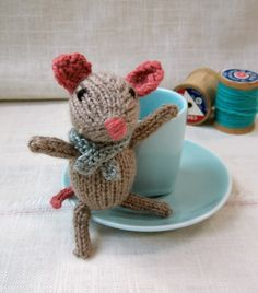 "Aug 29  Now, Who is This?  by Hannah  Add comments    Say ""hullo!"" to Marisol the Knitted Mouse from Rachel Borello Carroll's free pattern on Ravelry."