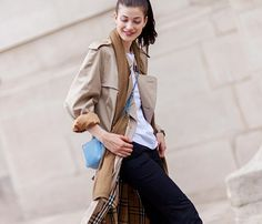 Unexpectedly Cool Ways to Wear a Trench Coat via @WhoWhatWear