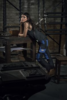 Eve Workwear: empowering women to feel good on the building site - The Interiors Addict Fashion Shoot, Women Empowerment, Fasion, Feel Good, Work Wear, Leather Pants, Eve, Feelings, Female