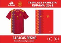 Nueva camiseta de la selección española 2018 Justice League, Vector Design, Geek, Templates, Ideas, Vectors, Russia, Fonts, T Shirts
