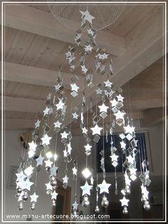 l'albero di Natale sospeso di Manu Arte